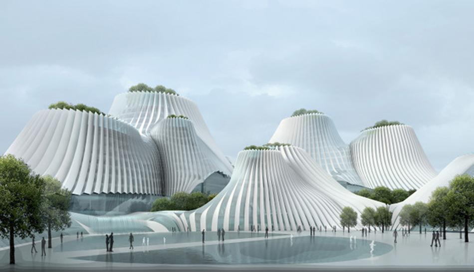 Taichung Taichung, ola de arquitectura y paisaje Decorar