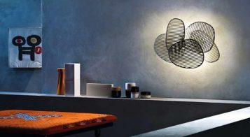 """""""La lámpara de pared o aplique Nuage, del diseñador italiano Philippe Nigro se inspira idealmente en el Optical Art, movimiento artístico de vanguardia de la década de los sesenta.""""  Lámpara de Pared Nuage – Mobiliario y Iluminación – Decorar una Casa  Foto 114 357x196"""