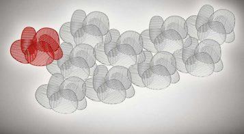 """""""La lámpara de pared o aplique Nuage, del diseñador italiano Philippe Nigro se inspira idealmente en el Optical Art, movimiento artístico de vanguardia de la década de los sesenta.""""  Lámpara de Pared Nuage – Mobiliario y Iluminación – Decorar una Casa  Foto 212 357x196"""