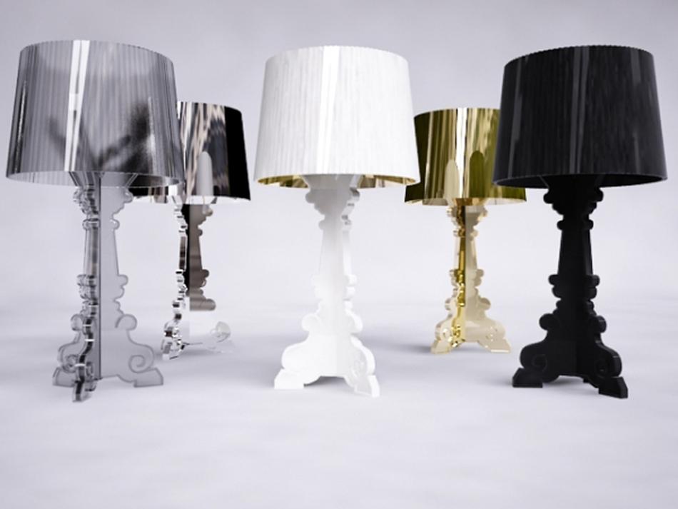 Bourgie, lámpara de estilo barroco Foto fea