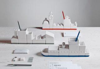 """""""Desktructure de Hector Serrano Un singular set de escritorio en porcelana diseñado para Selleti."""""""
