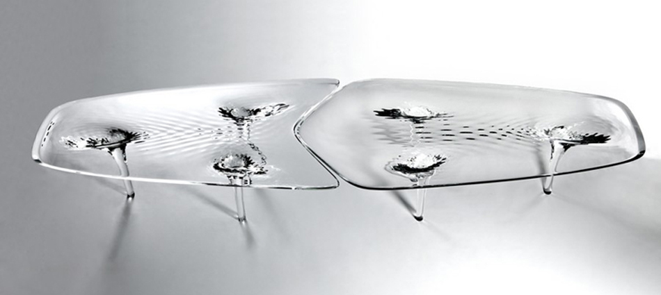 """Presentación de Liquid Glacial Table de Zaha Hadid""  Liquid Glacial Table Untitled 117"