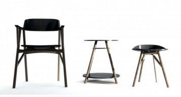 """Esta serie de silla, mesa y taburete, creada por el coreano Dongsung Jung, fue diseñada pensando un caballero Inglés, un gentleman.""  Ideas para Decorar: Serie SINsa de Dongsung Jung 115 357x192"