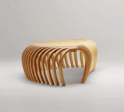 """""""La banca Ribs, creada por el diseñador australiano Stefan Lie del colectivo Design By Them.""""  Ideas para decorar: Banca Ribs de Stefan Lie – Design By Them 121 242x220"""