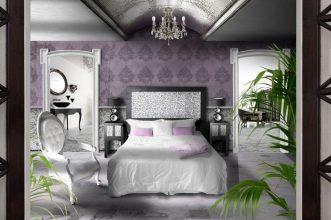 """""""Las paredes no sólo son funcionales, sino que también son una parte integrante de la decoración de interiores.""""  Cómo decorar las Paredes del Dormitorio Principal 38 vintage colores Feng Shui 331x220"""
