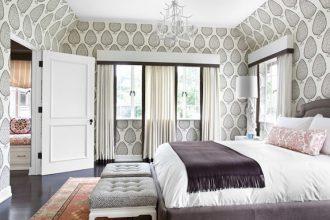 """""""Las paredes no sólo son funcionales, sino que también son una parte integrante de la decoración de interiores.""""   Cómo decorar las Paredes del Dormitorio Principal 39 papel en todas las paredes 330x220"""