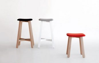 """Una serie de taburetes de madera diseñados por Sohei Arao.""  Ideas para decorar: Punt nos descubre Bevel taburetes bevel de punt mobes2 346x220"