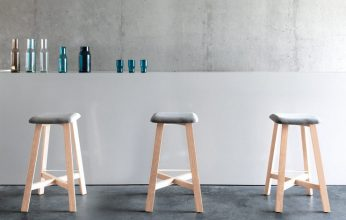 """Una serie de taburetes de madera diseñados por Sohei Arao.""  Ideas para decorar: Punt nos descubre Bevel taburetes bevel de punt mobes4 346x220"