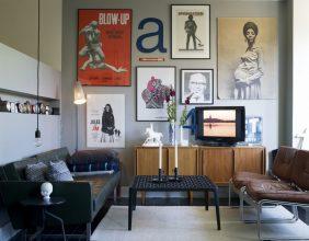 """""""Posters a gusto del consumidor y unos sencillos marcos negros para una pared llena de personalidad y de lo más atractiva""""  Las Paredes Vestidas, Mucho Más Atractivas: Arte Enmarcado o Framed Art  117 282x220"""