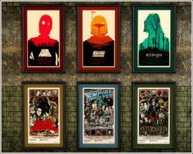 """""""Posters a gusto del consumidor y unos sencillos marcos negros para una pared llena de personalidad y de lo más atractiva""""  Las Paredes Vestidas, Mucho Más Atractivas: Arte Enmarcado o Framed Art  123 275x220"""