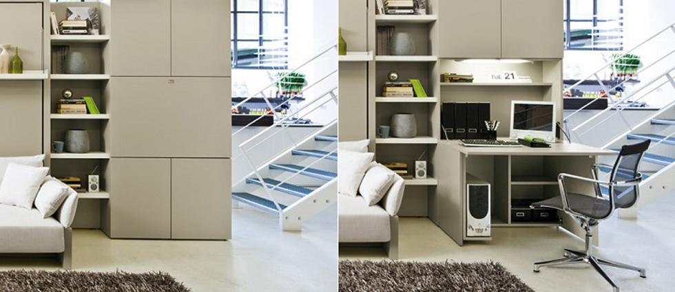 """""""Más allá del ahorro de espacio que permiten, algo ideal para las viviendas de hoy en día, los productos que ofrece la compañía tienen un alto nivel de diseño e ingeniería.""""  Muebles de diseño que verdaderamente ahorran espacio muebles de diseno que ahorran espacio6"""