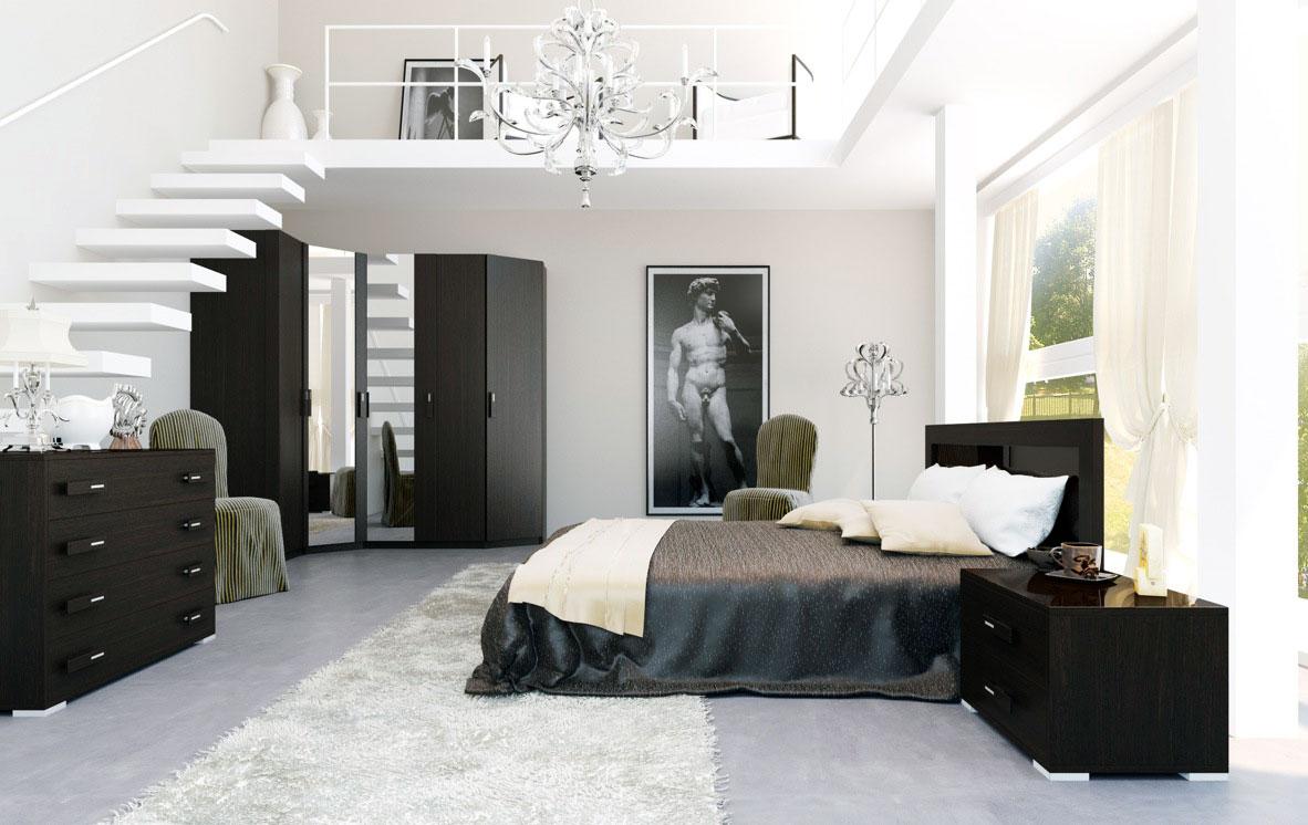 Las mejores ideas de arquitectura para aprovechar el espacio  Las mejores ideas de arquitectura para aprovechar el espacio Luxury Black and White Bedroom with Stair to Mezzanine