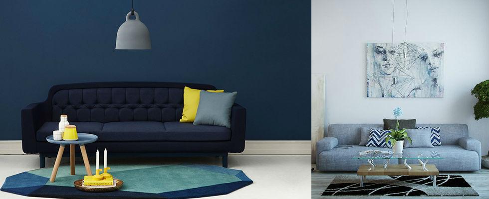 Decorar una casa salas de estar salas de estar Salas de estar azules para 2016 Decorar una casa salas de estar