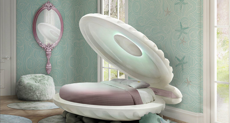 Decorar el Dormitorio de Los Niños Inspirado en Disney mermaid bed ambience circu magical furniture 01 1