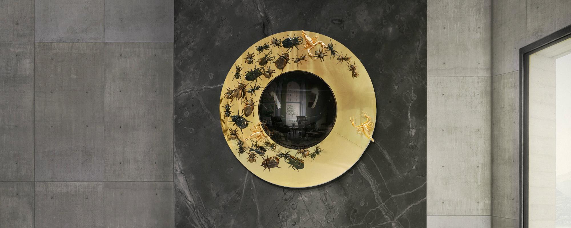 espejos de pared 5 Impressionantes Espejos de Pared que Tambíen son Piezas de Arte metamorphosis mirror hr 01