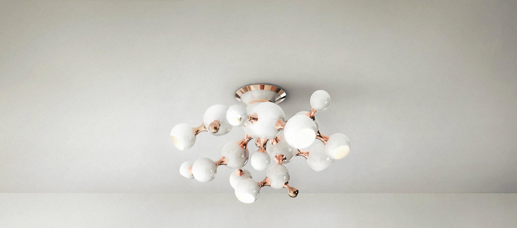 dicas de decoración Dicas de decoración : Lámparas Blancas para la decoración de invierno atomic ceiling ambience 02 HR