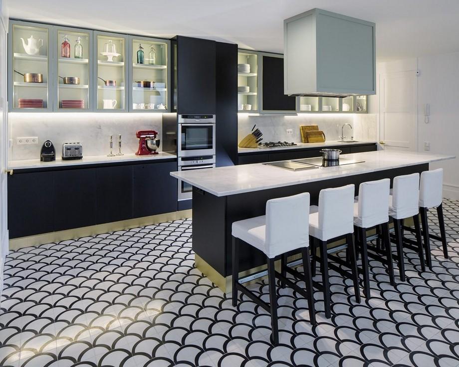 Estudio Ventura: Diseño de interiores poderoso y lujuoso en Madrid estudio ventura Estudio Ventura: Diseño de interiores poderoso y lujuoso en Madrid MC Kitchen pano 4