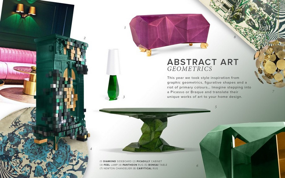 Tendencias de Interiores: Ideas inspiradoras sobre geometría de arte tendencias de interiores Tendencias de Interiores: Ideas inspiradoras sobre geometría de arte See an Awe Inspiring Moodboard of Abstract Art Geometrics for 2019 1