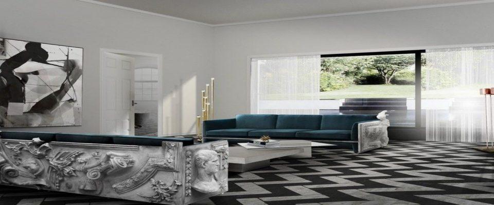 Diseño de interiores: Sofas modernos para la decoración de una sala de estar elegante