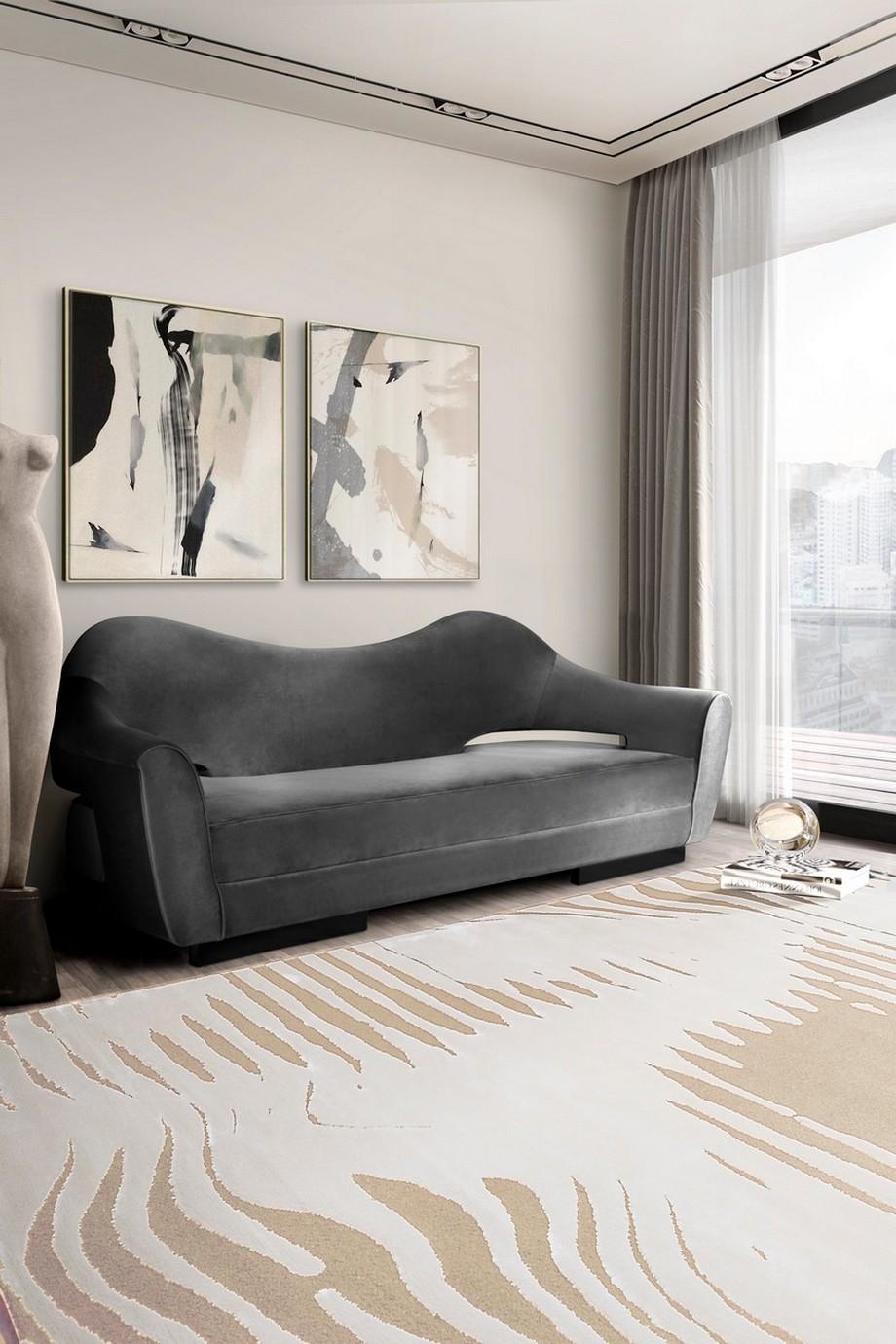 Diseño de interiores: Sofas modernos para la decoración de una sala de estar elegante diseño de interiores Diseño de interiores: Sofas modernos para la decoración de una sala de estar elegante RS kotta rug nau sofa