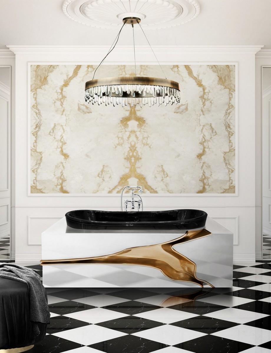 tendencias de diseño Tendencias de Diseño Moderno para hacer una decoración de primavera en Baño golden hues