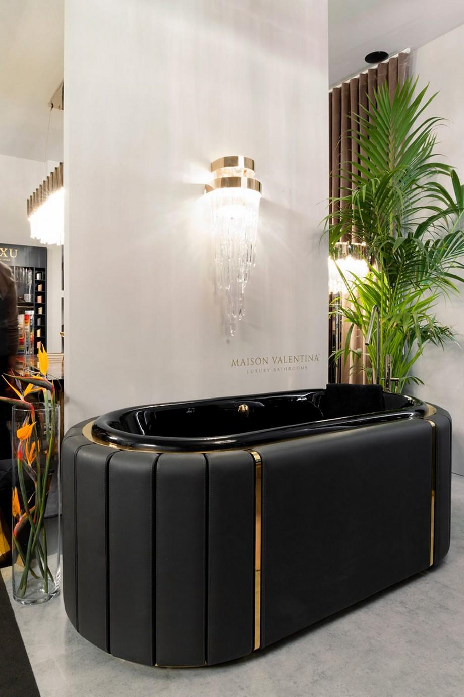 cuarto de baño Cuarto de Baño: La combinación clásica de negro y oro 1 1 2