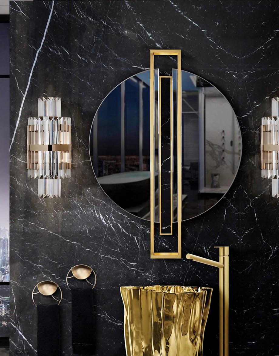 Cuarto de Baño: La combinación clásica de negro y oro cuarto de baño Cuarto de Baño: La combinación clásica de negro y oro 2 1 1