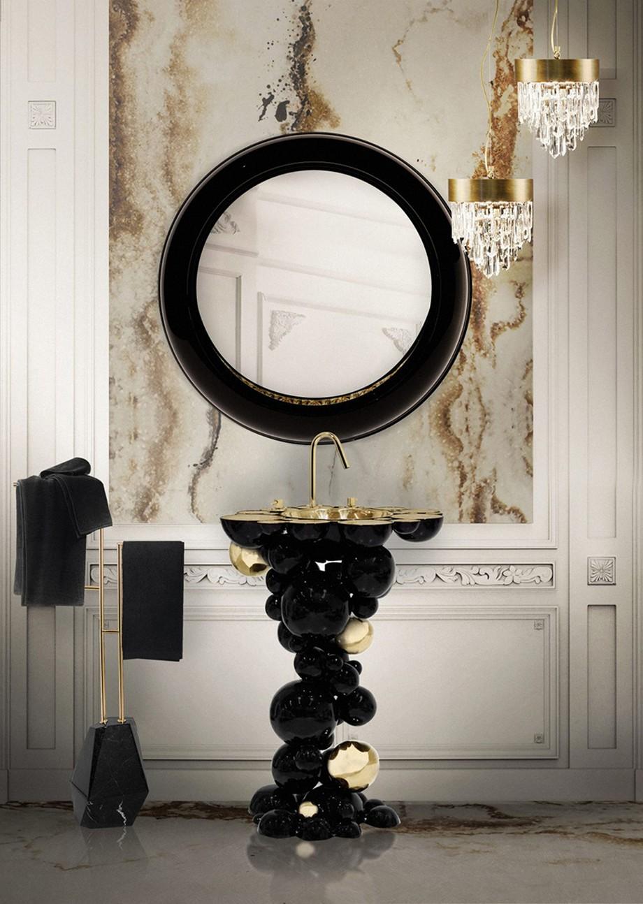 Cuarto de Baño: La combinación clásica de negro y oro cuarto de baño Cuarto de Baño: La combinación clásica de negro y oro 3 1