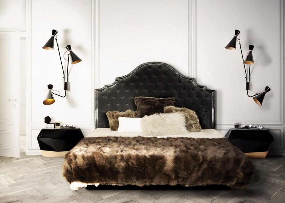 Diseño Dormitorio: Inspiraciónes poderosas y elegantes diseño dormitorio Diseño Dormitorio: Inspiraciónes poderosas y elegantes Boca do Lobo Diamond Nightstand Luxury Furniture Bedroom Design