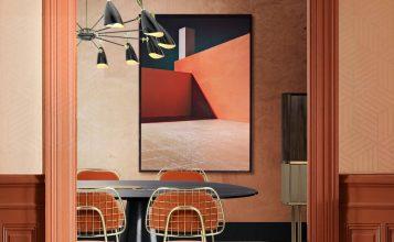 Diseño de Interiores de Vivendas de Medio-siglo lujuosas y perfectas para inspirar cuarto de baño Cuarto de Baño: La combinación clásica de negro y oro Featured 6 357x220