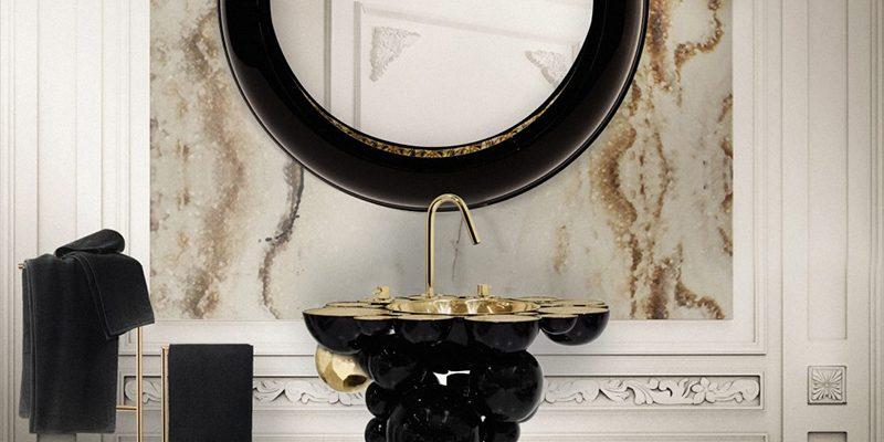 Cuarto de Baño: La combinación clásica de negro y oro