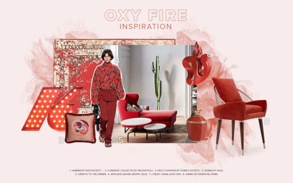 diseño de interiores Diseño de Interiores: Pronóstico de Colores que puedes seguir en 2021 moodboard trends 2022 color oxy fire 1024x640 1