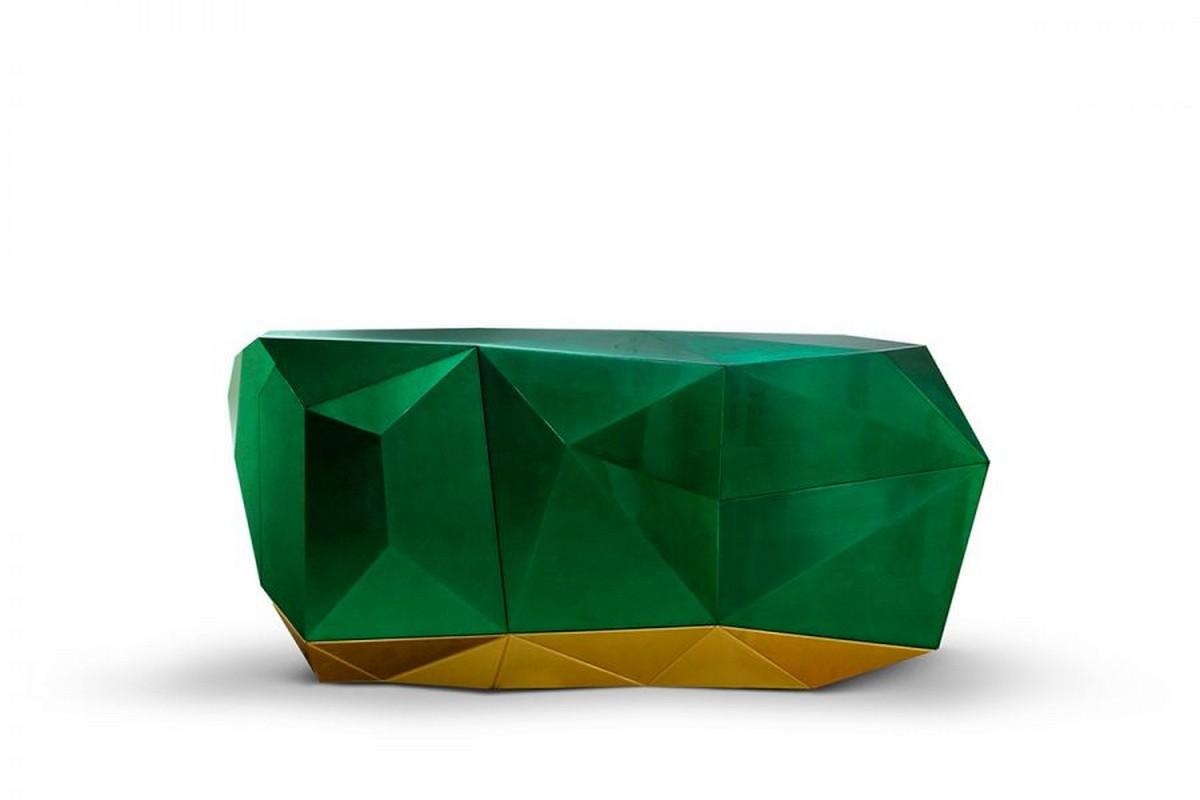 Diseño Interiores Moderno: Combinaciónes de colores impresionantes diseño interiores Diseño Interiores Moderno: Combinaciónes de colores impresionantes diamond emerald sideboard boca do lobo 01 900x600 1