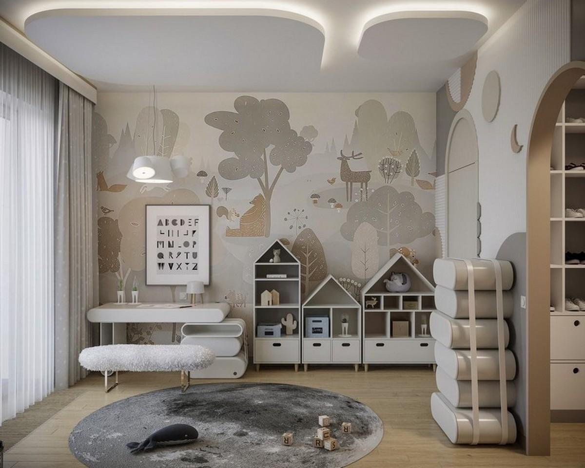 Diseño de Interiores pata niños: Dormitorios con elementos modernos y especiales diseño de interiores Diseño de Interiores para niños: Dormitorios con elementos modernos y especiales Cloudy Kids Bedroom Design with Modern Elements 3 1