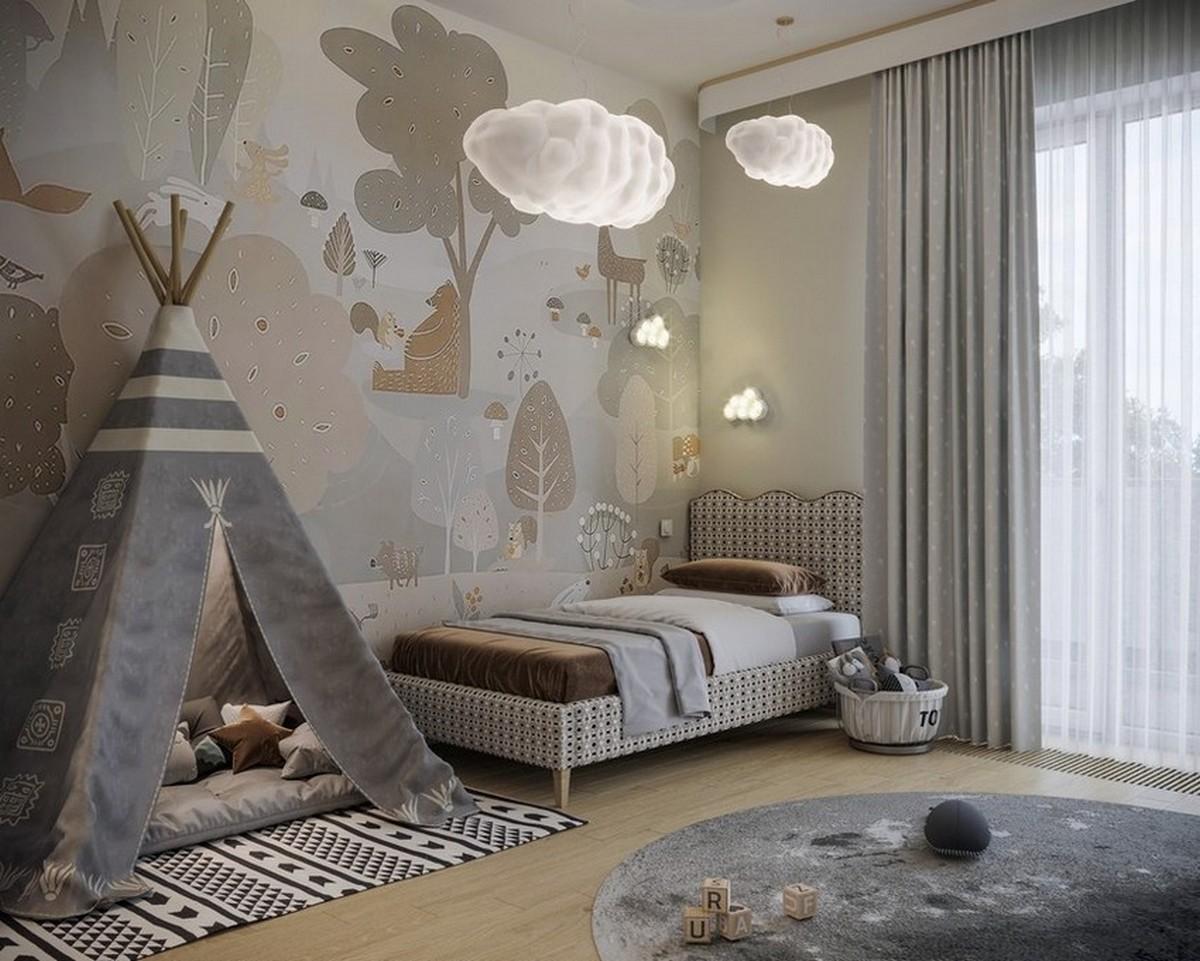 Diseño de Interiores para niños: Dormitorios con elementos modernos y especiales diseño de interiores Diseño de Interiores para niños: Dormitorios con elementos modernos y especiales Cloudy Kids Bedroom Design with Modern Elements 4