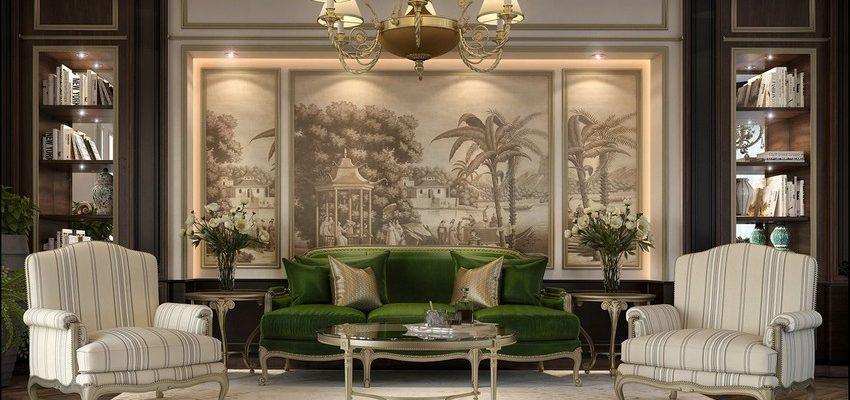 Tendencias de Interiores: Sala de Estar poderosas y lujuosas