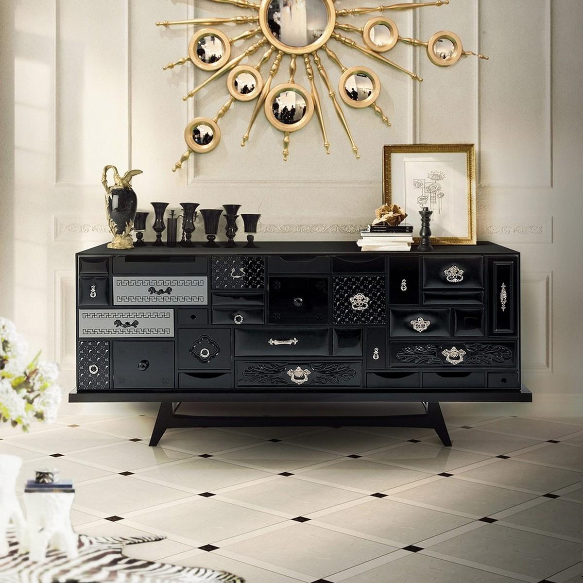 Aparadores lujuosos y elegantes: Color Negra es un misterio aparadores lujuosos Aparadores lujuosos y elegantes: Color Negra es un misterio mondrian 08