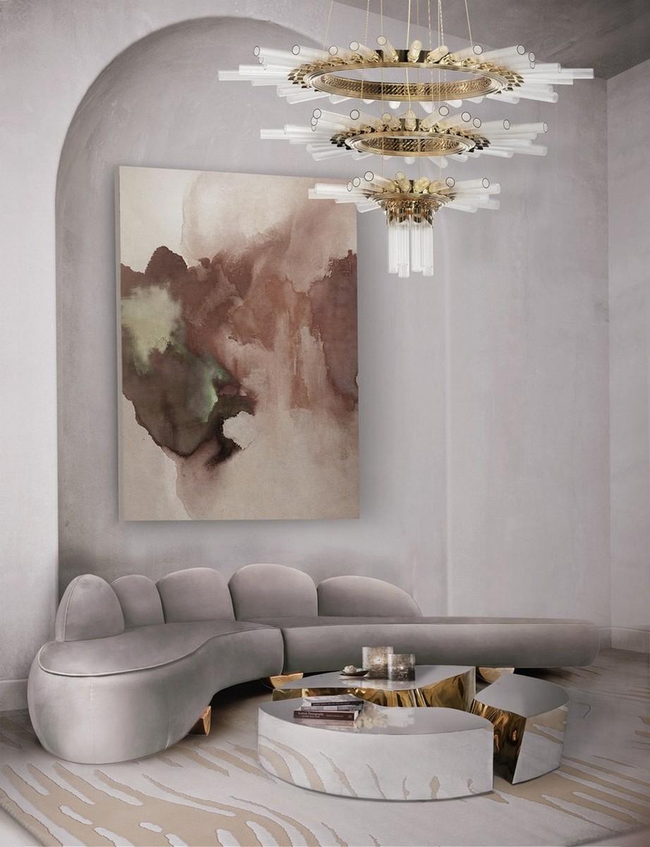 Diseño de Interiores: Sofas Modernos para la decoración de una Sala de Estar Elegante diseño de interiores Diseño de Interiores: Sofas Modernos para la decoración de una Sala de Estar Elegante CH fritzroy lapiaz oval majestic chandelier 1