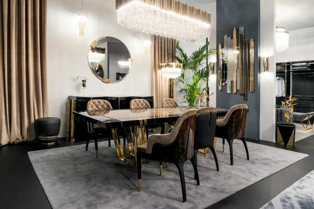 Diseño de Espejos para un proyecto contemporaneo y lujuoso de Comedor [object object] Diseño de Espejos para un proyecto contemporaneo y lujuoso de Comedor EXCLUSIVE CLASSY DINING ROOM BY LUXXU AT MO 2020