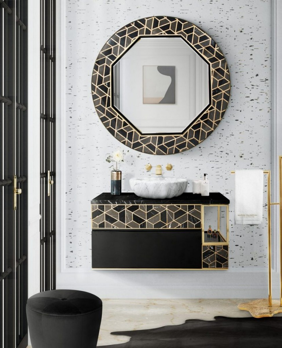 Interiores para Baños: Ideas poderosas y lujuosas para cualquier espacio interiores para baños Interiores para Baños: Ideas poderosas y lujuosas para cualquier espacio Terrazo Bathroom Ideas Everything About This Trend 2 scaled 1