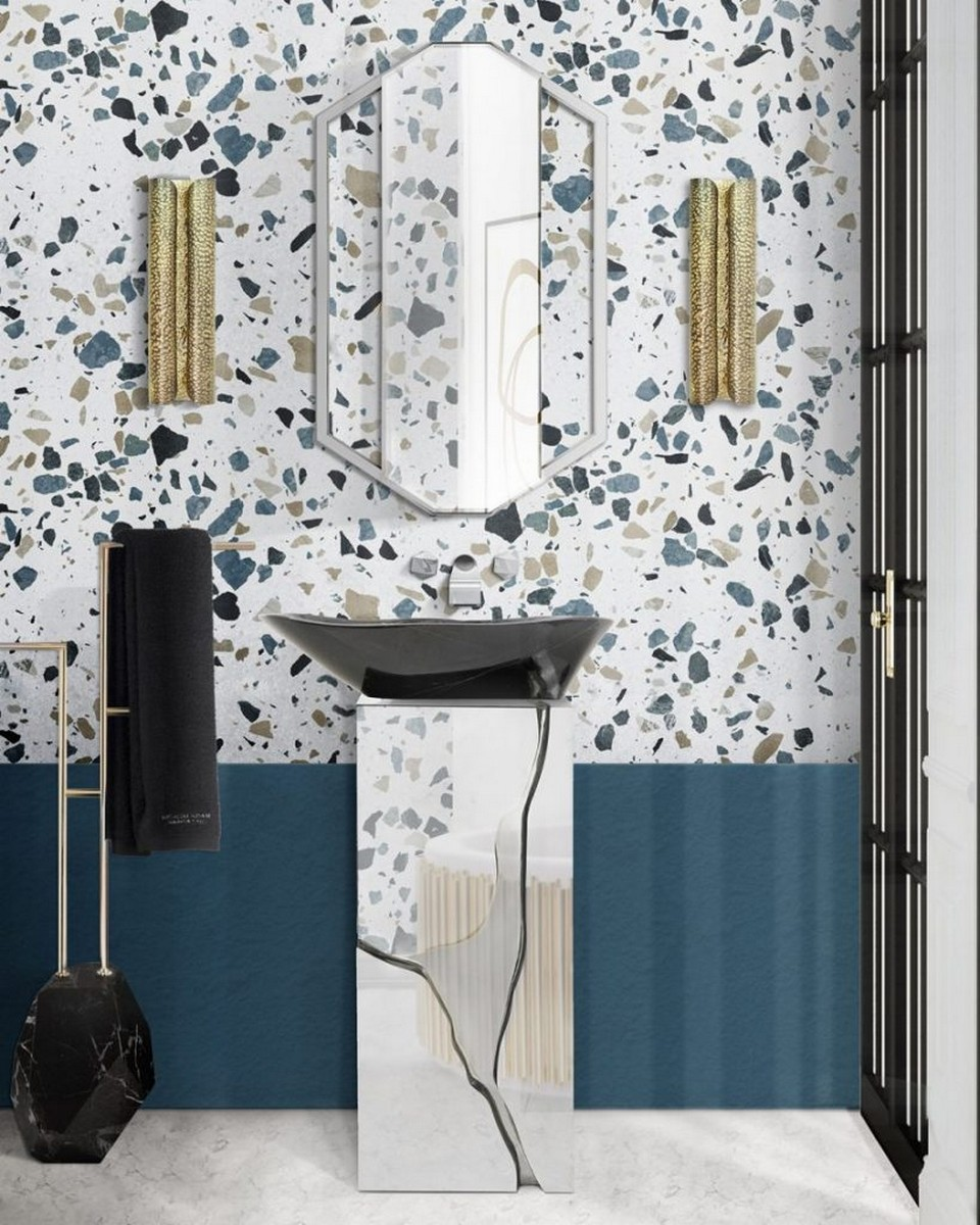 Interiores para Baños: Ideas poderosas y lujuosas para cualquier espacio interiores para baños Interiores para Baños: Ideas poderosas y lujuosas para cualquier espacio Terrazo Bathroom Ideas Everything About This Trend 5 scaled 1