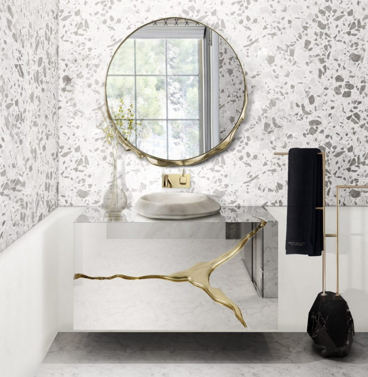 Interiores para Baños: Ideas poderosas y lujuosas para cualquier espacio interiores para baños Interiores para Baños: Ideas poderosas y lujuosas para cualquier espacio Terrazo Bathroom Ideas Everything About This Trend 6 scaled 1