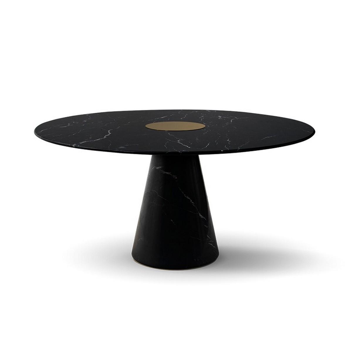 Tendencia de Mesas poderosas y elegantes: lujo en mármol [object object] Tendencia de Mesas poderosas y elegantes:  lujo en mármol bertoia round dining table 1