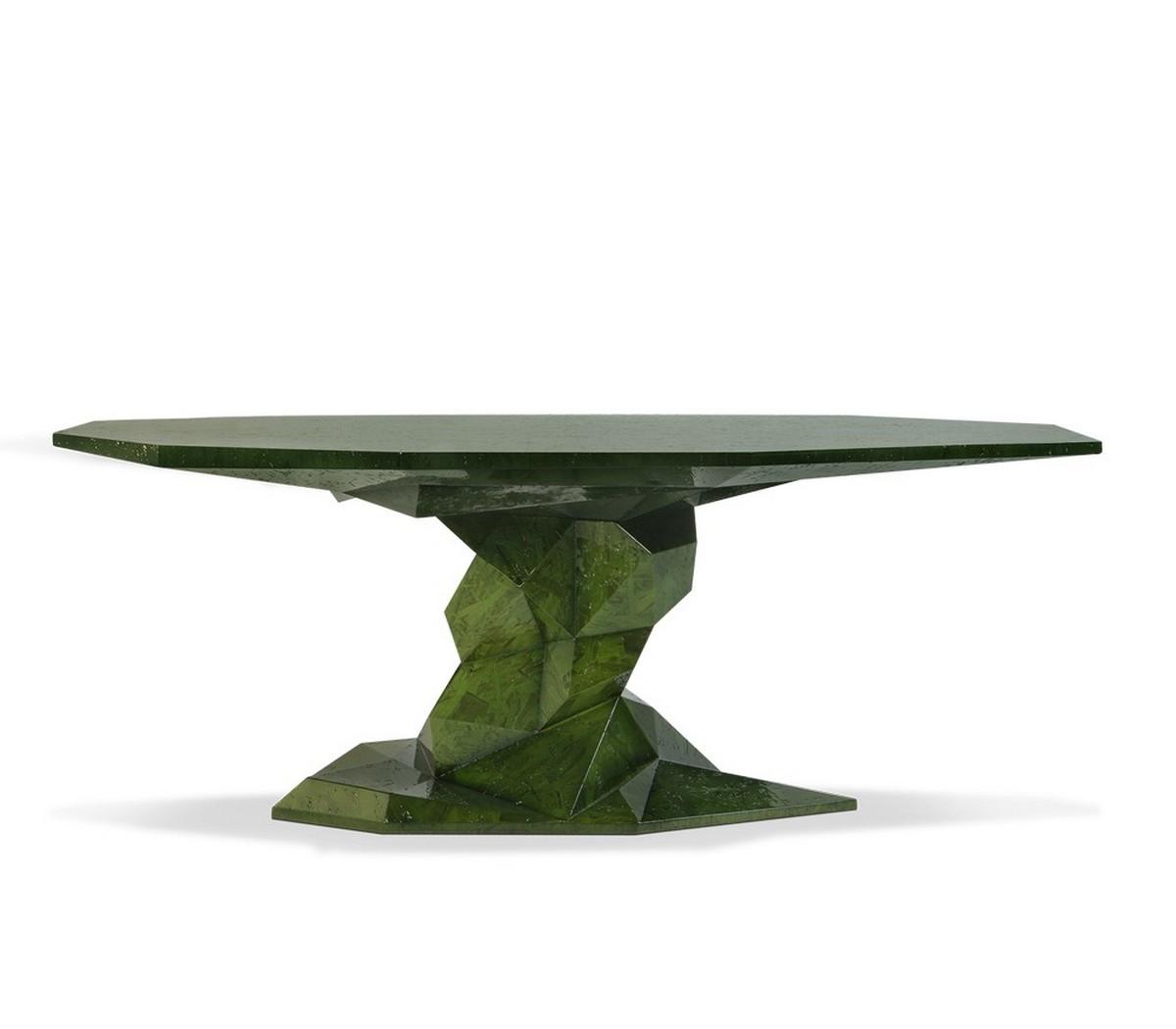 Diseño de Comedor: Una seleción de muebles lujuosos y coloridos diseño de comedor Diseño de Comedor: Una seleción de muebles lujuosos y coloridos bonsai dining table 01 zoom boca do lobo