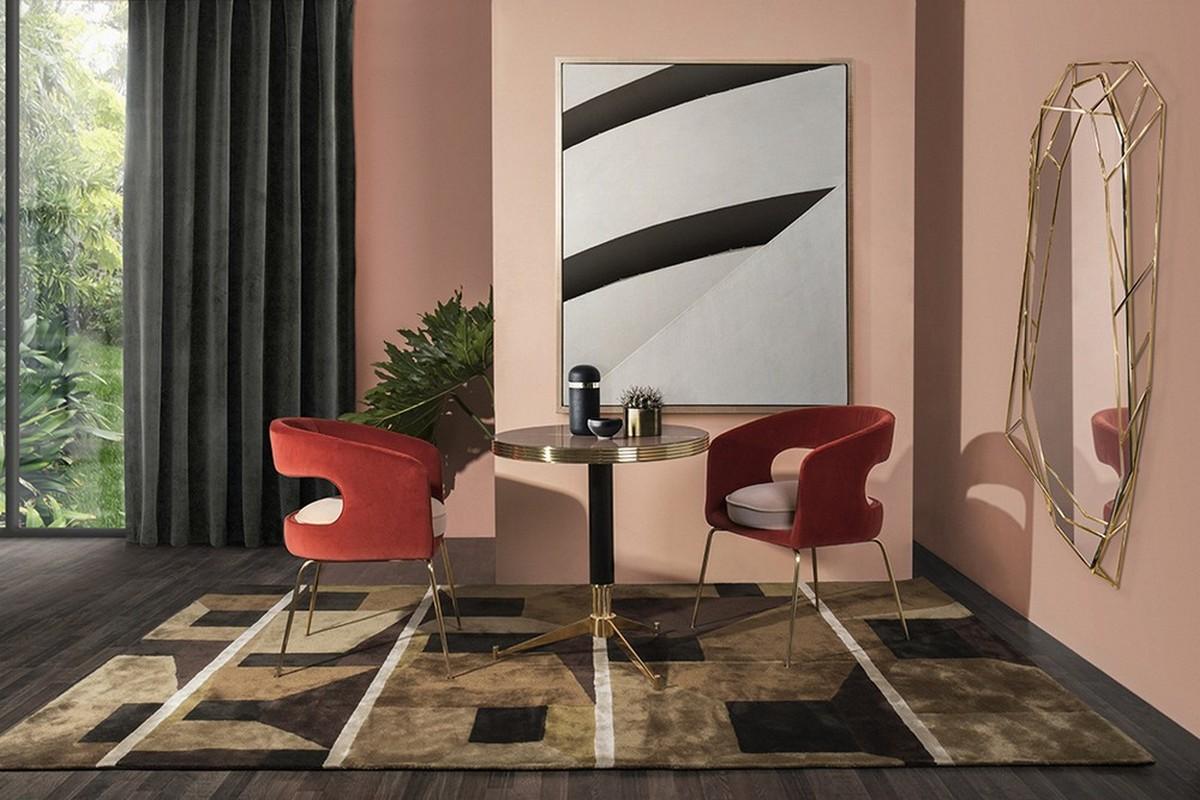 diseño de interiores Diseño de Interiores: Ideas para comedores de mediados de Siglo contemporáneos connect glamour and noistalgia for an unexpected effect