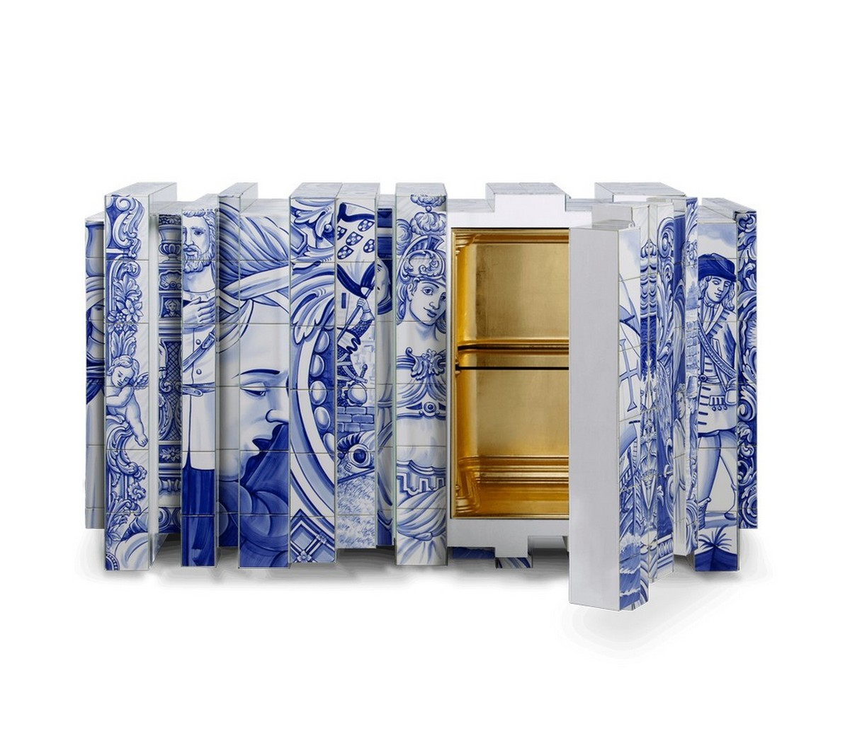 diseño de comedor Diseño de Comedor: Una seleción de muebles lujuosos y coloridos heritage sideboard 02 zoom boca do lobo