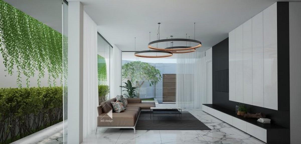 Diseño Moderno: Proyectos minimalistas que puedes encuentrar la simplicidad diseño moderno Diseño Moderno: Proyectos minimalistas que puedes encuentrar la simplicidad living wall circular chandeliers minimalist house