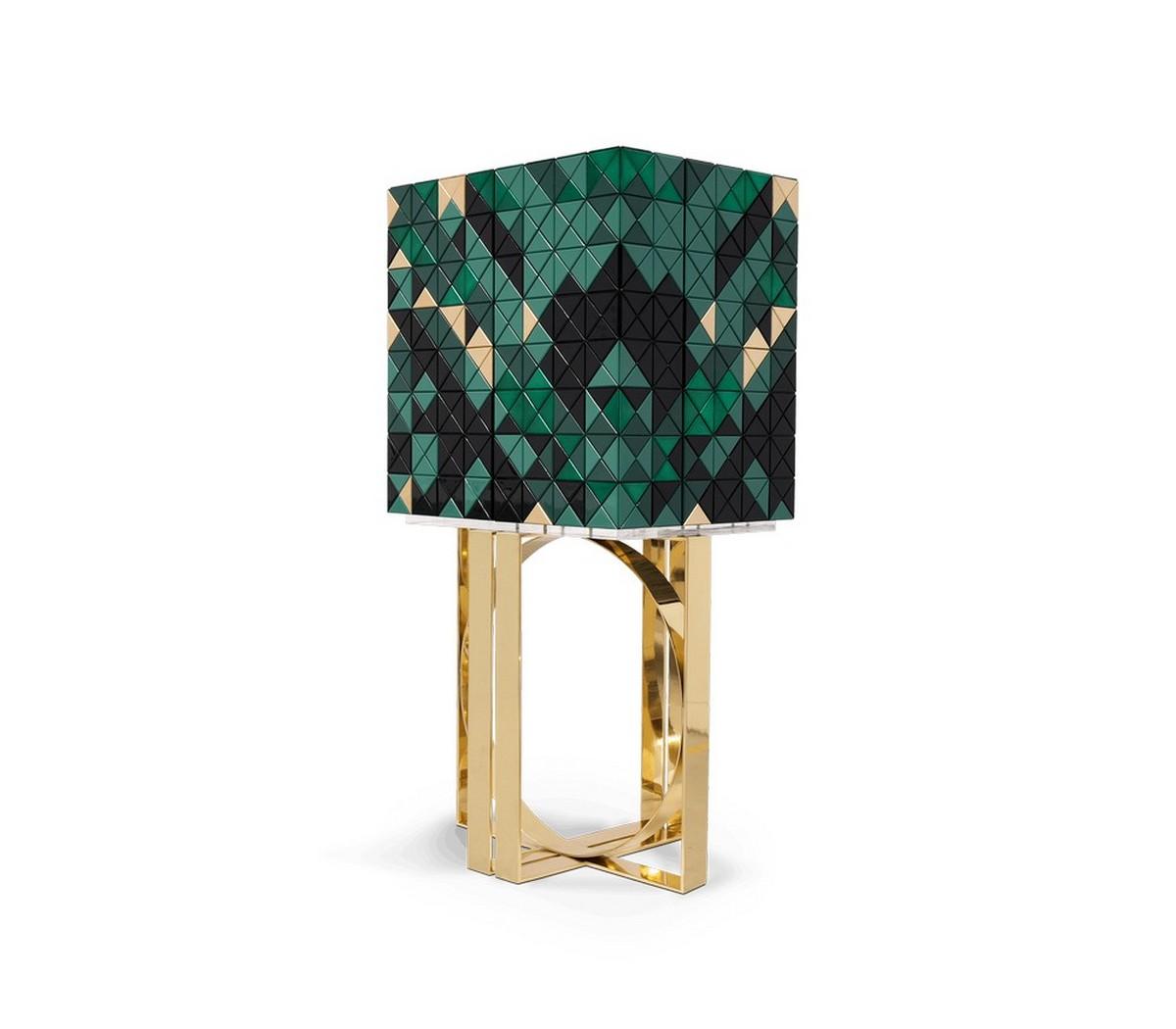 Diseño de Interiores: Armarios de Bar para un proyecto lujuoso diseño de interiores Diseño de Interiores: Armarios de Bar para un proyecto lujuoso pixel green cabinet 01 zoom boca do lobo 1