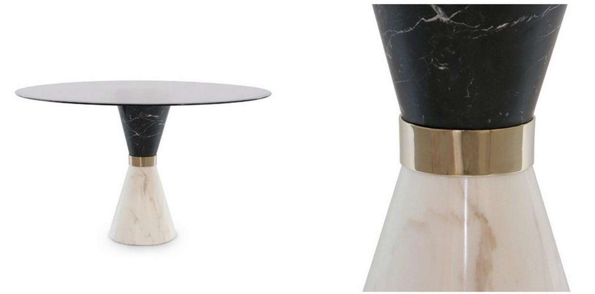Tendencia de Mesas poderosas y elegantes: lujo en mármol [object object] Tendencia de Mesas poderosas y elegantes:  lujo en mármol vinicius dining table
