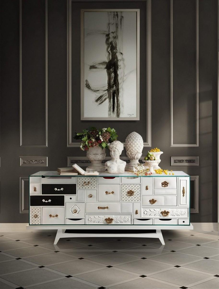 Interiores Lujuosos con Aparadores inspiradores en la arte interiores lujuosos Interiores Lujuosos con Aparadores inspiradores en la arte mondrian